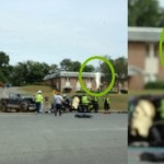 Spirit or Guarding Angel photo at accident scene