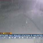 Ghost caught on surveillance camera at police station.